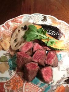 黒毛和牛みすじのステーキ